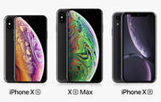 Apple iPhone Xs + iPhone Xs Max + iPhone XR Black 3d model