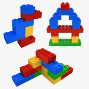 Lego Bricks Shapes Collection 3d model