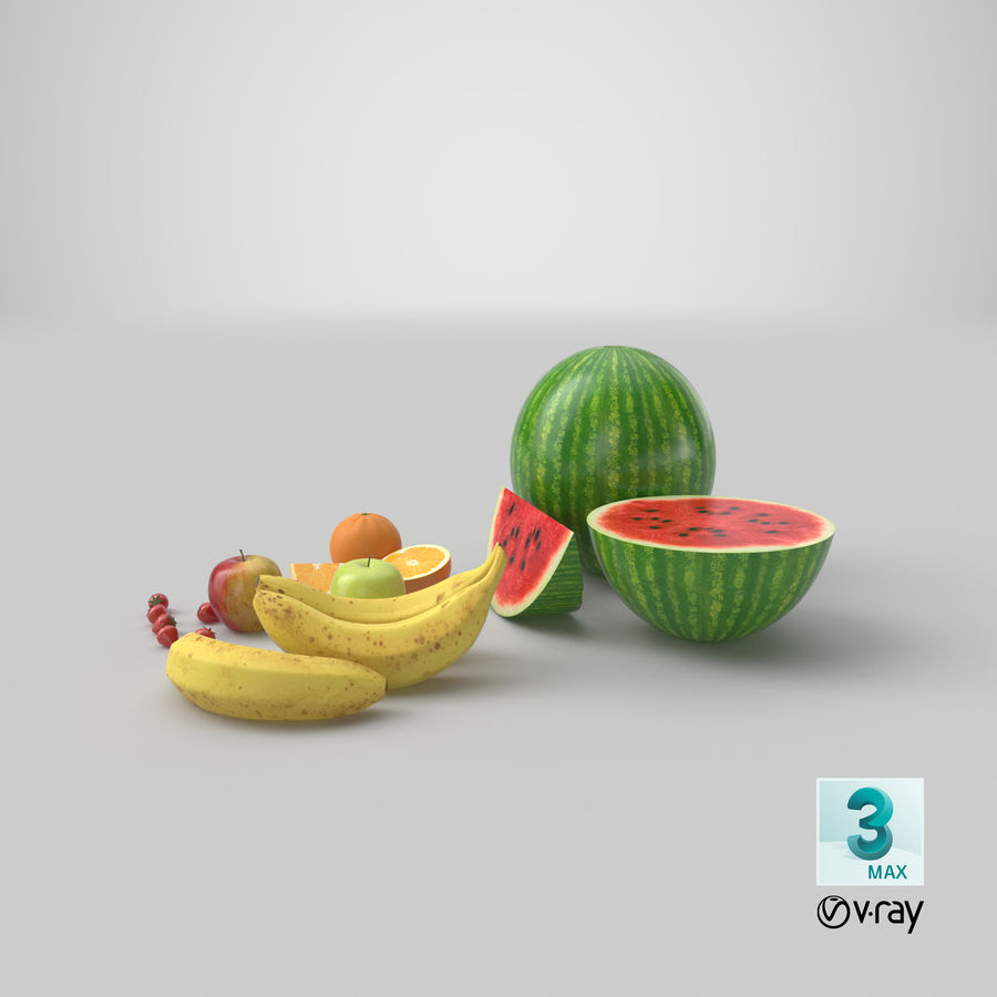 Fruits royalty-free 3d model - Preview no. 31