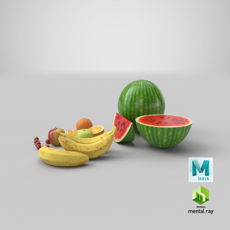 Fruits royalty-free 3d model - Preview no. 30