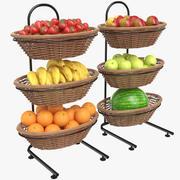 Banchi di mostra della frutta 3d model