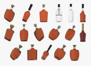 alcohol bottles pack 3d model