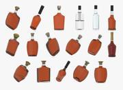 упаковка бутылок алкоголя 3d model