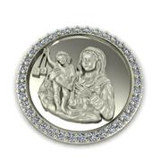 Virgin Mary medal 3d model