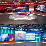 Tv studios collection 3d model