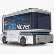 E Go Mover Autonomous Electric Bus 3d model