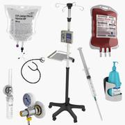 Collection de matériel médical 3d model