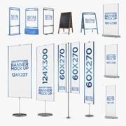 Advertising pack 12 in 1 3d model