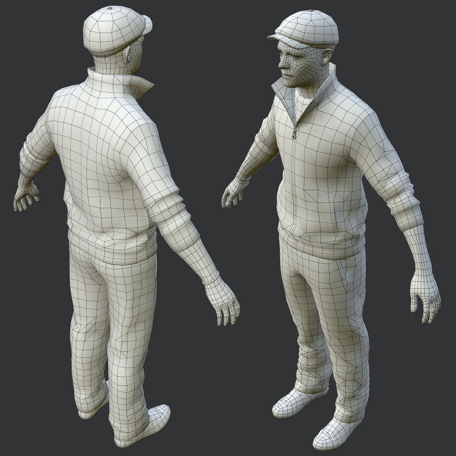 Rus Holigan Slava Düşük Poli royalty-free 3d model - Preview no. 11