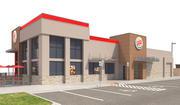 Retail-050 Burger King-005 z witryną 3d model