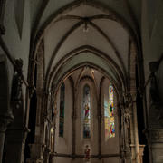 Gothic church interior 3d model