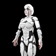 Cyborg Female HD 3d model