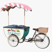 Carrito de comida de helado realista PBR modelo 3d