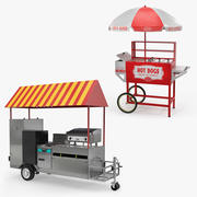 Hot Dog Carts 3D Models Collection 3d model