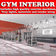 Fitnessstudio Interieur 3d model