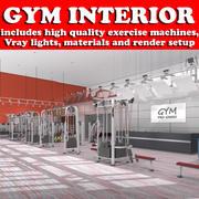 Fitnessstudio Interieur 3d model