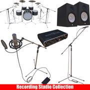 Kolekcja studia nagrań 3d model