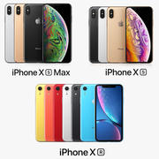 iPhone Xs + iPhone Xs Max + iPhone XR All Color Apple Collection 3d model