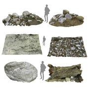Riverbed Rock Mud Tree 3d model