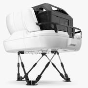Máquina de simulador de avião genérica 3d model