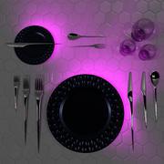 Futurystyczny zestaw obiadowy 3d model