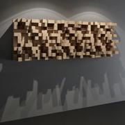QRD Skyline Diffuser - Panneau mural pour studio acoustique 3d model