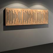 Wavewood扩散器-声学演播室墙板 3d model