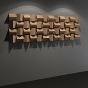 三角扩散器-录音室墙板 3d model