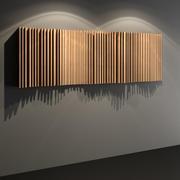 波浪扩散器-声学工作室墙板 3d model
