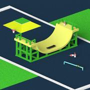 Skate - animação 3d model
