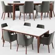 Alina armchair Anteo table 3d model