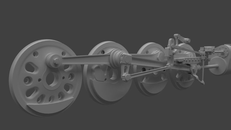 mechanizm koła (1) royalty-free 3d model - Preview no. 2