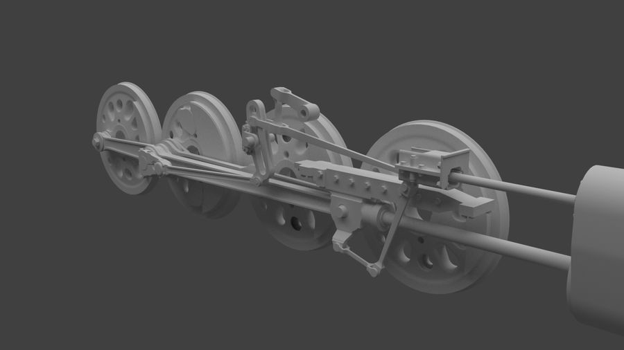 mechanizm koła (1) royalty-free 3d model - Preview no. 3