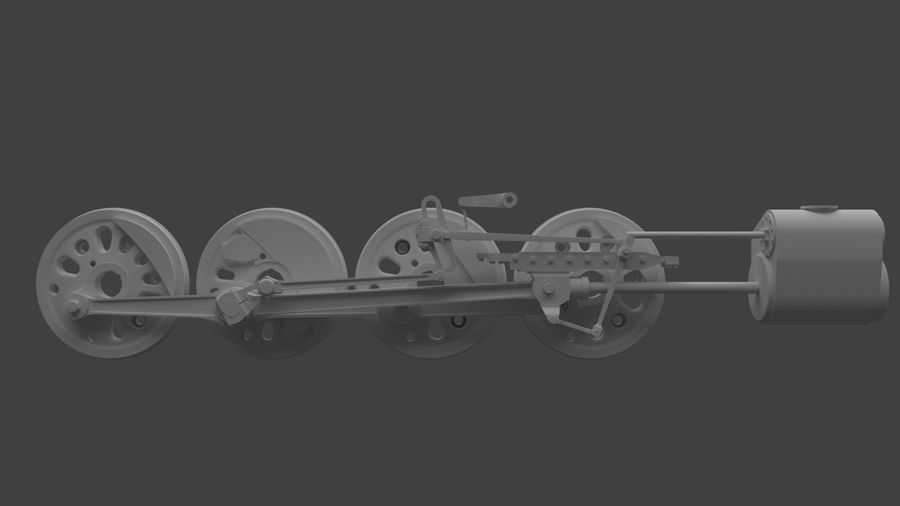 mechanizm koła (1) royalty-free 3d model - Preview no. 4