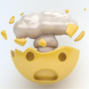 EMOJI explosion 3d model