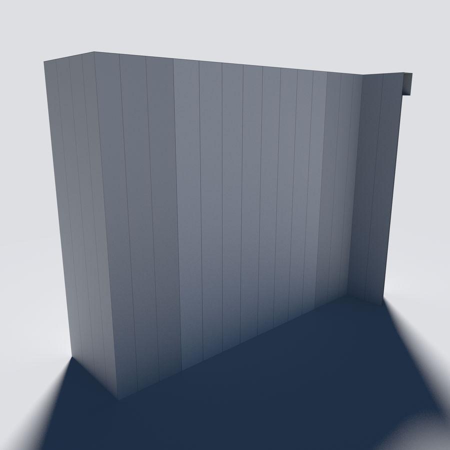 模块化城堡墙包 royalty-free 3d model - Preview no. 4