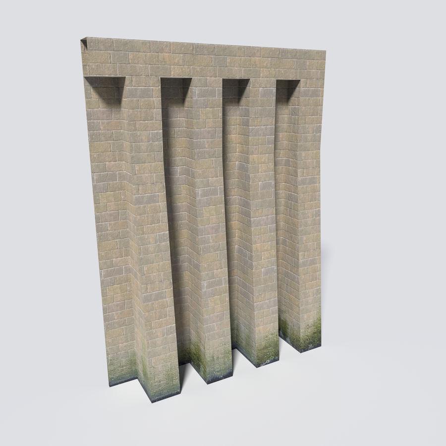 模块化城堡墙包 royalty-free 3d model - Preview no. 8