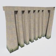 模块化城堡墙包 3d model