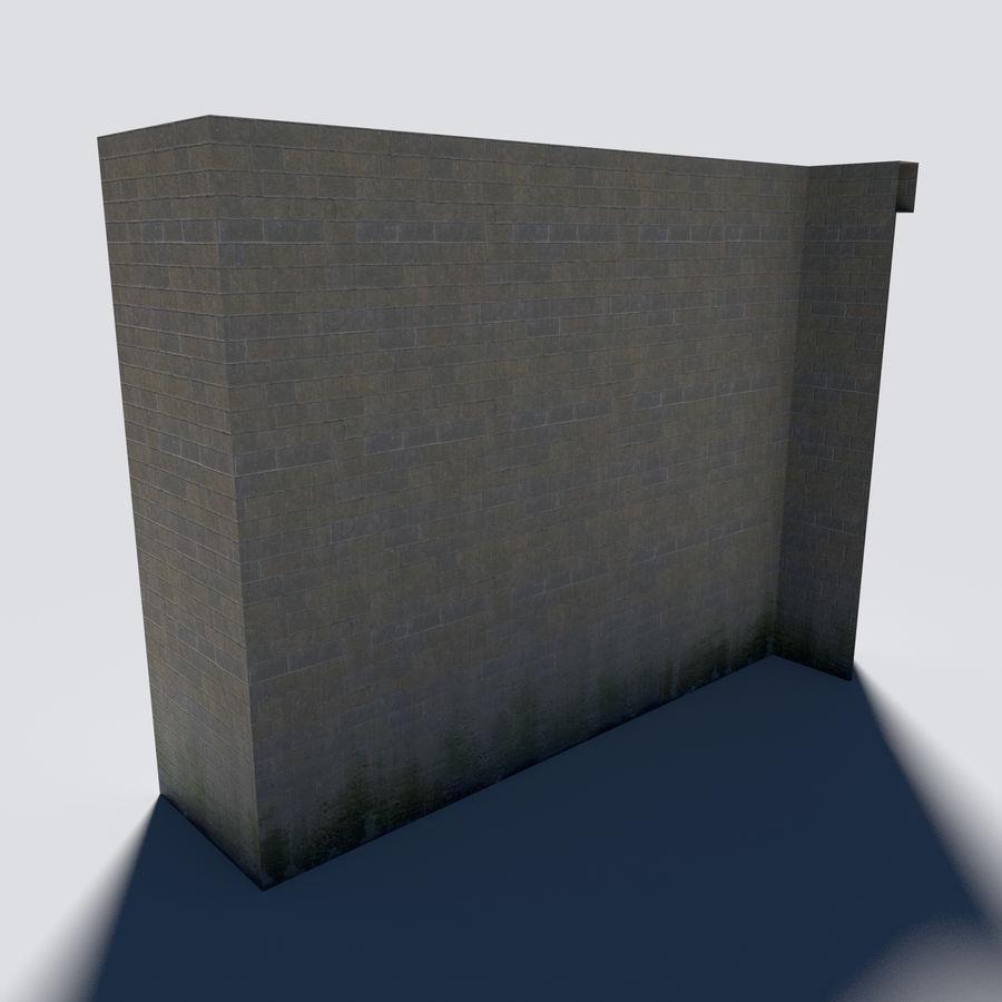 模块化城堡墙包 royalty-free 3d model - Preview no. 3