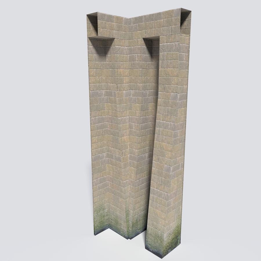 模块化城堡墙包 royalty-free 3d model - Preview no. 10