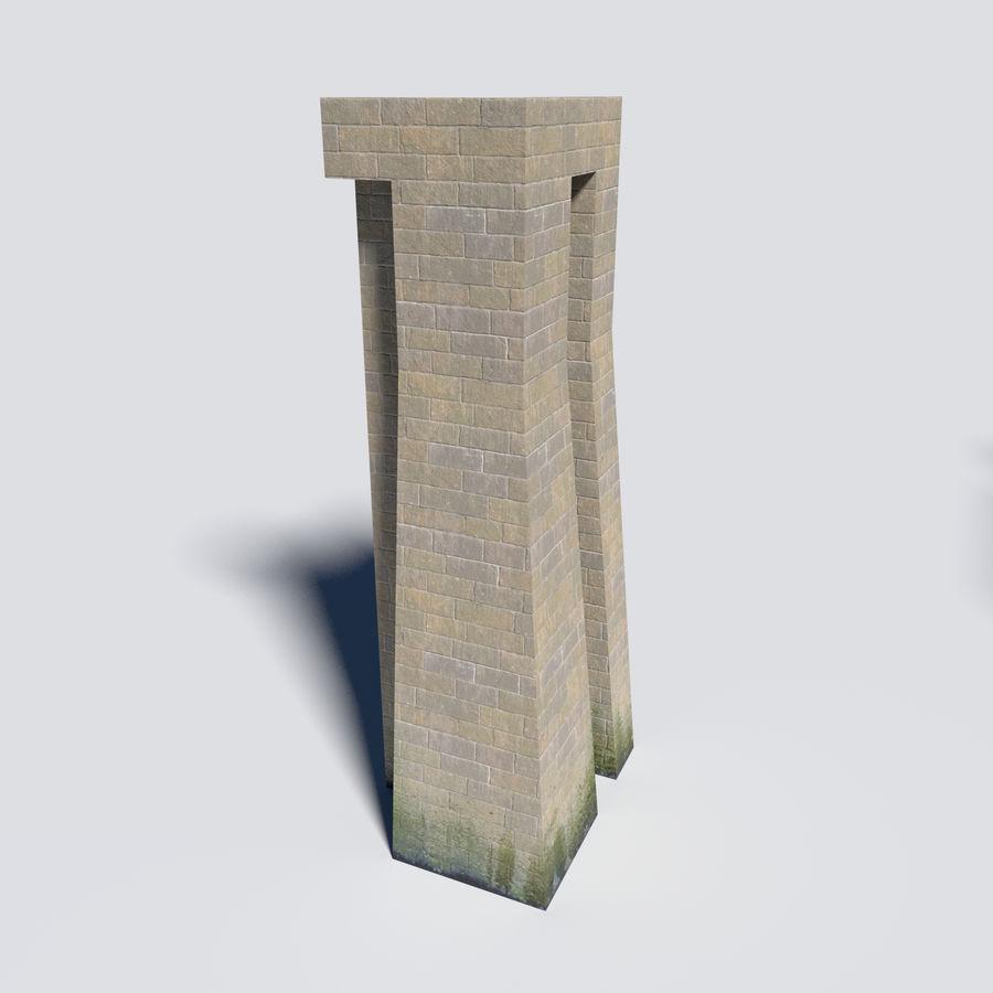 模块化城堡墙包 royalty-free 3d model - Preview no. 6