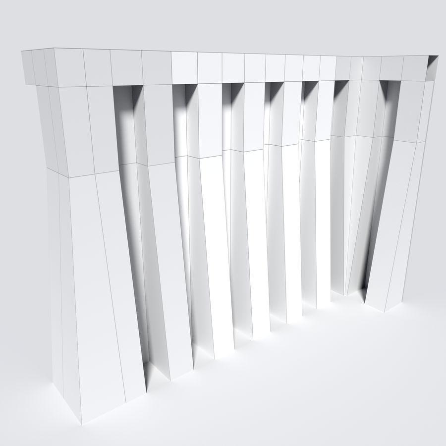 模块化城堡墙包 royalty-free 3d model - Preview no. 2