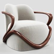 Giorgetti HUG扶手椅 3d model
