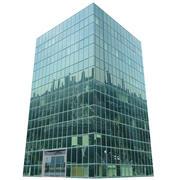 lov poly glass building 3d model