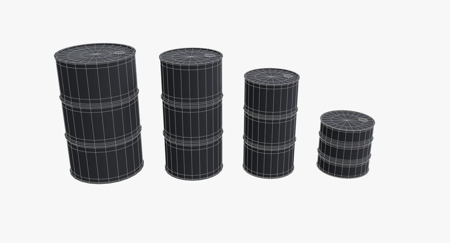 chemical barrels royalty-free 3d model - Preview no. 14