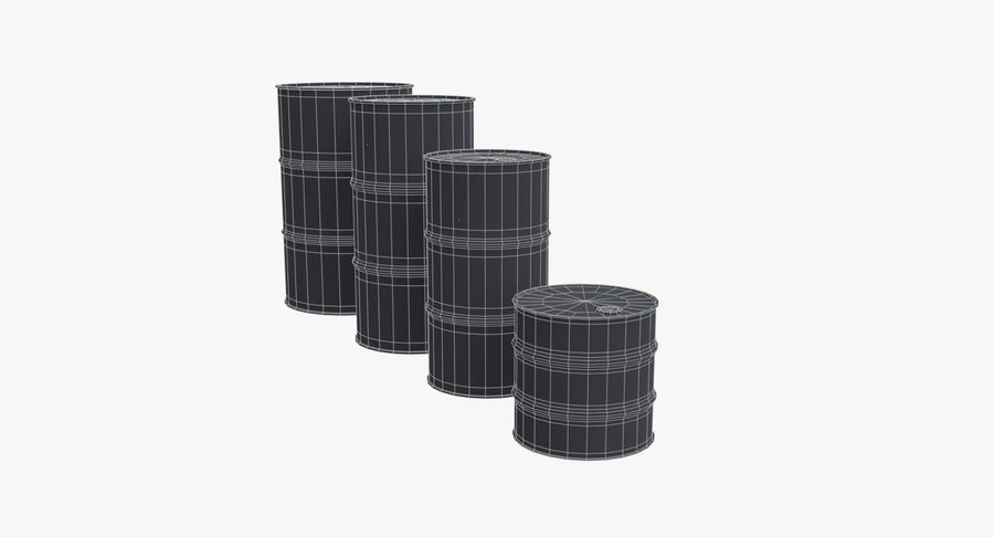 chemical barrels royalty-free 3d model - Preview no. 17