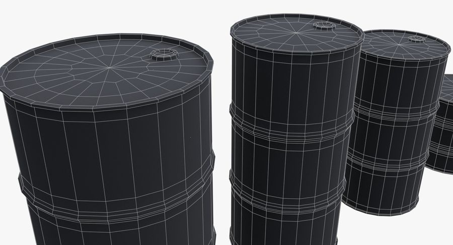 chemical barrels royalty-free 3d model - Preview no. 23
