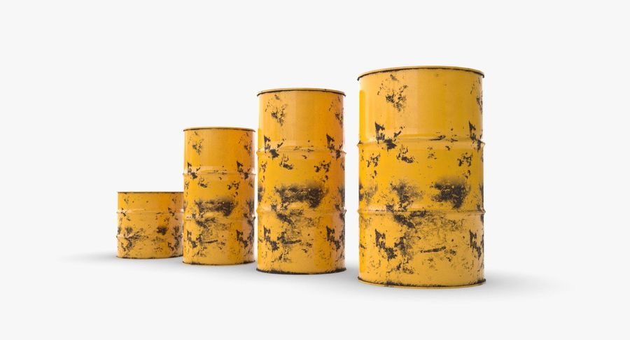 chemical barrels royalty-free 3d model - Preview no. 9