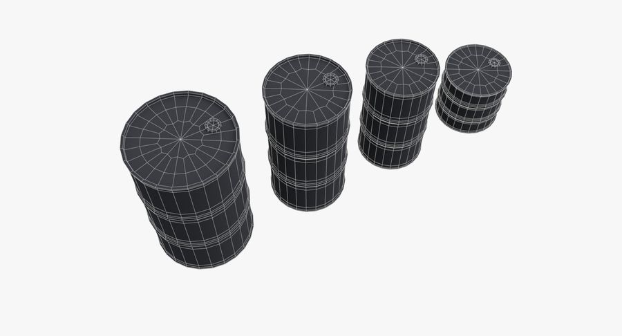 chemical barrels royalty-free 3d model - Preview no. 21