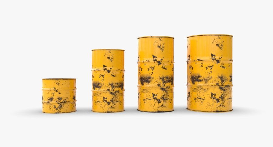 chemical barrels royalty-free 3d model - Preview no. 8